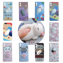 Buy Squishy Funny Cat Phone Case Sony Xperia XA F3111 F3113 F3115 3D Panda Pappy Rabbit Silicone TPU Cover for $2.87 in AliExpress store