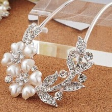 Fashion Jewelry Angel  Design Pearl And Crystal Handwear Hair Combs Headbands Hair Jewelry for women 2015