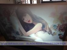 NEW ARRIVE! BLACK  Rear projection screen/foil/film for 3D holo display, shop WINDOW, glasses, Christmas advertising
