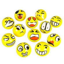 Mehechap Funny Smiley Face Anti Stress Reliever Ball Mood Squeeze Relief Emoji Happy Face Hand Finger Exerciser Pressure Ball(China)