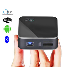 Pocket DLP Projector E05 Android 4.4.4 RK3128 Quad Core 120 ANSI Lumens 1080P HD Media Player Support WiFi Bluetooth