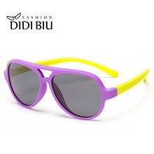 Los niños TR90 de titanio gafas de sol polarizadas Flexible de silicona  plegable marco gafas Rosa niños verde gafas Infantil C71. d0b9f07200