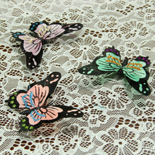11.5*8.3cm Colorful Feather Butterfly Clip Hair Headdress Home Decor Decoration Simulation Wedding Christmas Party Supplies A076