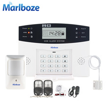 Russian/French/Spanish Voice Prompt GSM SIM Home Burglar Security Alarm System Remote Control Kit Infrared Detector Door Sensor(China)