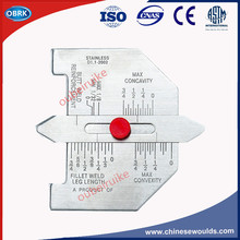 Inch Automatic Weld Size Weld Gauge Fill In Angle Gauge Stainless Fillet Weld Gauge(China)