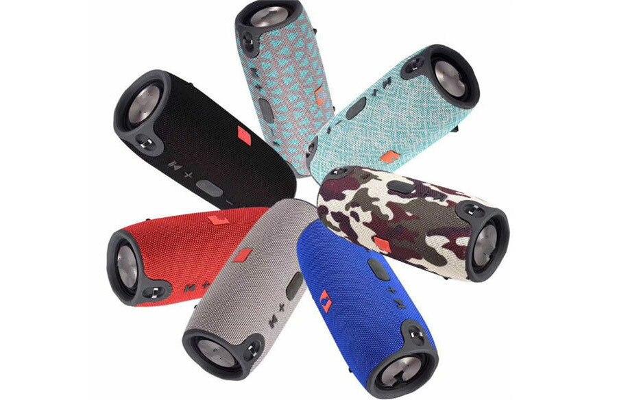 10 2018 Portable TF Card USB FM Radio Line in Wireless Fabric BT Speakers