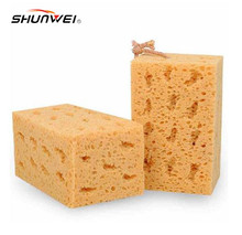 2PCS New Fashion Hot Sale Yellow Car Washing Cleaning Sponge Auto waxing Block Free Shipping
