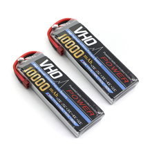 VHO 2S Li-polymer Lipo Battery 2pcs 7.4V 10000mah 25C For S800 S900 S1000 Helicopter RC Model Quadcopter Airplane Drone(China)