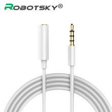 Robotsky Universial 3.5mm Audio Extension Cable 4-pole Male to Female Headphone Extension Code for Mp3 Phone Tablet Desktop(China)