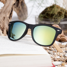 BOBO BIRD Simple Style Bamboo Legs Polarized Lens Sun Glasses Women Men with Wood Gift Boxes As Best Gift For Friends Women Mens(China)