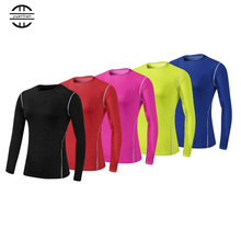 YEL Hot Women Logo Custom High Elastic Fitness Tight Compression Clothing Gym Training Sport Suit Running Long sleeve Yoga Shirt