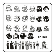 Robot Pattern Nail Art Stamping Template Cute Mechanic Head Designed Metal Image Plate DIY Tools SP-023