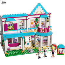 Lepin 01014 Good Friend Girls Series 622 Pcs Stephanie's House Set Building Blocks Bricks Toys Designer Gifts Compatible 41314(China)