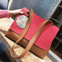women shoulder bags leisure tote bag leather suede Crossbody Bag vintage designer big shopping bags ladies business laptop sac(China)
