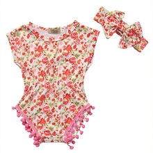 Floral Cute Infant Summer short sleeve Gift Newborn Baby Boys Girls Clothes Romper Jumpsuit Playsuit Outfits 2PCS
