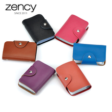 12 Colors Hot-selling 100% Genuine Leather ID Bank Credit Card Holder Unisex Fashion Mini Purse Case Pocket Casual Small Bag(China)