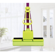140206/Absorbent sponge mop/Fold Squeeze Water Sponge Mop, Stainless Steel Rod Can Stretch Cotton Absorbent Mop(China)