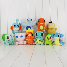 Anime Mudkip Plush Toy Squirtle Bulbasaur Charmander Charizard Lugia Dragonite Licario Lapras Totodile Psyduck Stuffed Dolls