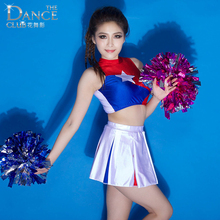 Basketball Football Baby Dance Costumes New Cheerleaders La-la-la Operating Performance Clothing Set For Child And Adult(China)