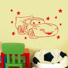 children gift Creative DIY cute Cars Custom Kids Name baby wall stickers for kids rooms home decoration wall stickers