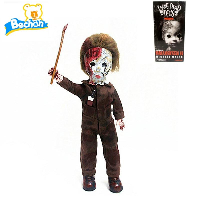 Hot Living Dead Dolls Halloween 2 Killer Michael Myers Kid Version Classic Rob Zombie Horror Film Mezco 11 Action Figure Toys<br><br>Aliexpress