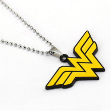 Buy HSIC 10pcs/lot Wholesale Fashion Jewelry Wonder Woman Logo Charm Necklaces Pendant Fans Friendship Accessories for $17.59 in AliExpress store