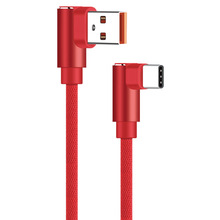 APPACS USB Type C Cable 2.4A USB C Charger Fast Data sync Charging 90 Degree Type-c Cable Samsung Note 8 S8 Oneplus USB-C