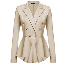 Buy Women Slim Blazer Coat Spring Autumn 2018 Plus Size Casual Jacket Long Sleeve Double-breasted Suit Lady Blazers Work Wear for $15.59 in AliExpress store