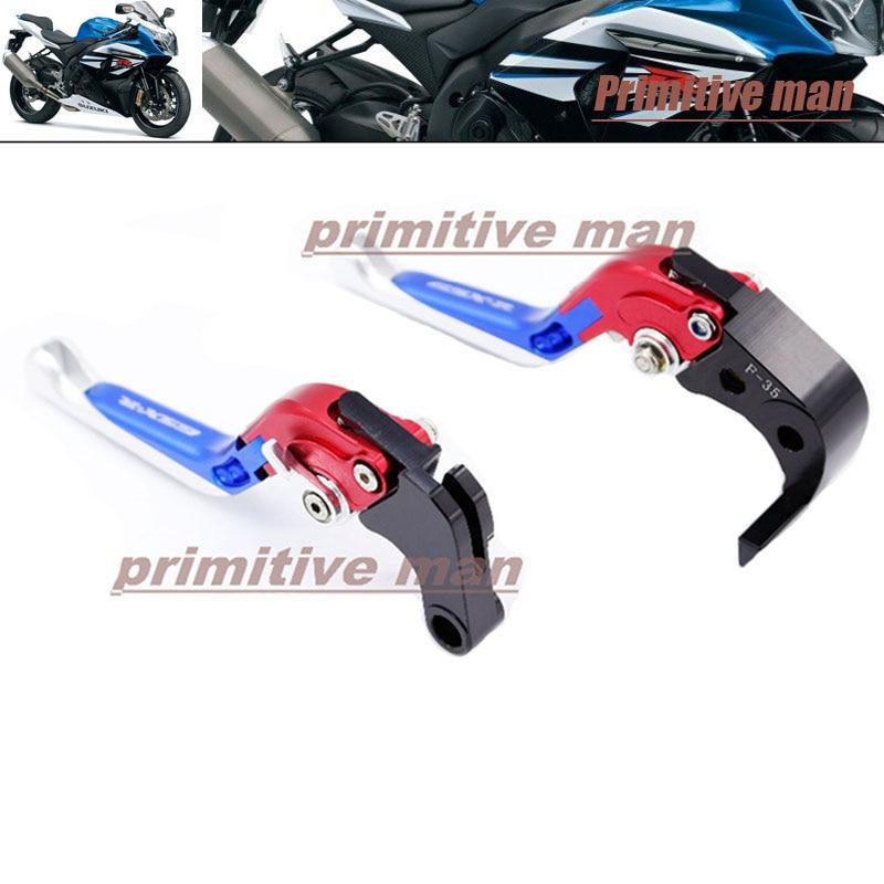 For SUZUKI GSX-R 600/750 GSXR600 GSXR 750 2011-2013 Motorcycle Folding Extendable Brake Clutch Levers LOGO GSX-R #B<br>