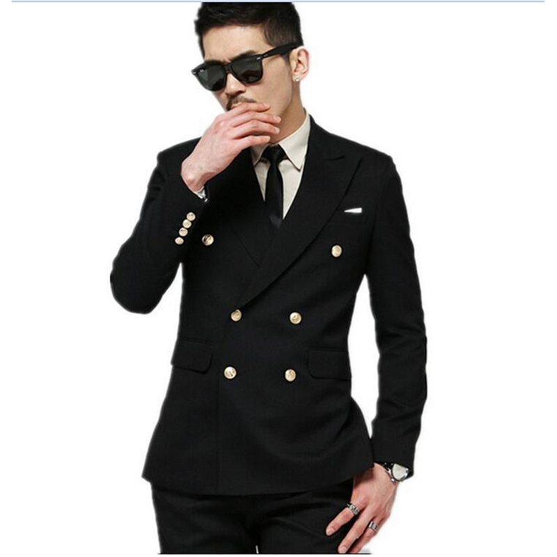 Latest-Coat-Pant-Design-2016-Black-Slim-Fit-Double-Breasted-Wed Suit-Tuxedos-For-Men