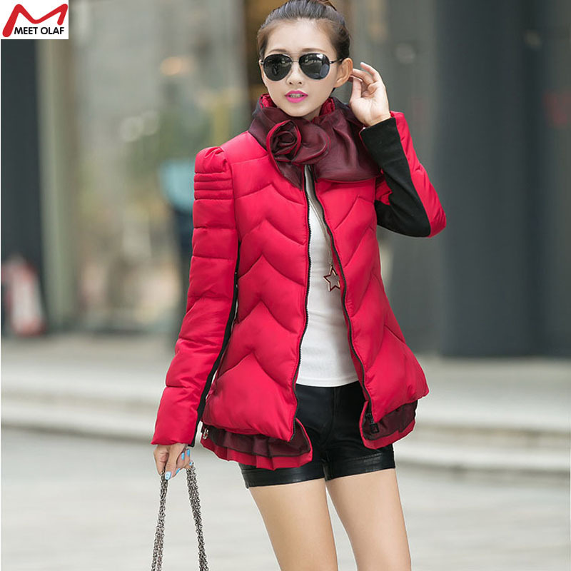 2015 fashion  winter women warm down  outwear coat  Warm Thick With flowers parkas  free ship   YL1179Одежда и ак�е��уары<br><br><br>Aliexpress