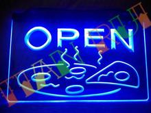 LB496- OPEN Pizza Display Cafe NEW NR LED Neon Light Sign home decor shop crafts(China)