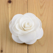 Solid Colors 9cm DIY Fabric Flowers for making Headband,Handmade Flat Back Rose Flower Embellish Dresses Wedding Pary