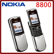 Original Nokia 8800 Mobile Phone English / Russian keyboard GSM FM Bluetooth Phone Gold Silver Black One year warranty(China)
