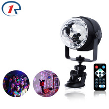 ZjRight RGB LED Crystal Magic Rotating Ball Stage Lights USB 5V Colorful ktv DJ light disco light gift Bar Sound Control Lights(China)