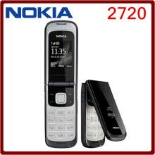 Original 2720 Unlocked Mobile Phone Nokia 2720 Refurbished Cell Phone One Year Warranty with Russian keyboard(China)