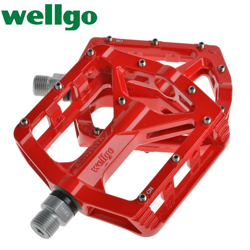 Wellgo MG2 Road Bike Bicycle Ride MTB BMX Downhill DH Magnesium Pedals CNC Sealed Bearing Axle 9/16 pedal<br><br>Aliexpress