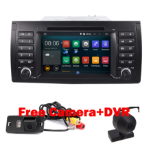 Hot Sell 1 din android 5.1 car dvd player for BMW E39 E53 with Wifi 3G Quad 1024X600 Bluetooth Radio RDS USB SD Free camera