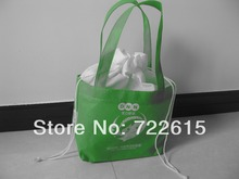 hot sale custom nonwoven tote bags reusable drawstring bag foldable promotional gift bag(China)