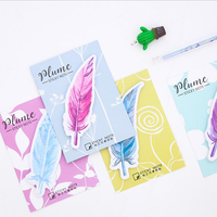 Colored Creative Feature Self-adhesive Post-it Sticky Notes Lovely Korean Stationery Book Index Mark Supplies Paper Memo Pads