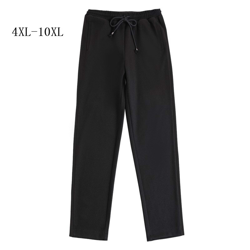 Plus Size 10XL 9XL 8XL 7XL Women Autumn Winter Pants Female Elastic High Waist Full Length Pencil Pants Black Casual Trousers