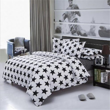 Linen quilt bedding set  a family of four solid color Bedclothes set bed