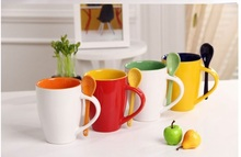 320ml large volume ceramic mug, mug with color, logo printing is available as promotional gifts