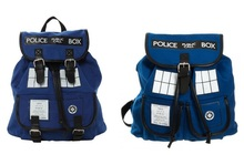Doctor Dr. Who Tardis Women's Knapsack Backpack Police Box Bag Good Quality With Tag(China)
