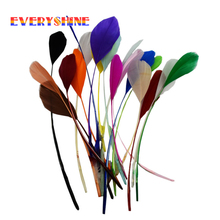 Cheap for Sale 24pcs Colorful Dyed Goose Feather Wedding Bouquet Decoration Feathers Length 12-20cm IF29(China)