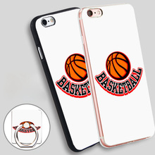 basketball logo Soft TPU Silicone Phone Case Cover for iPhone 4 4S 5C 5 SE 5S 6 6S 7 Plus