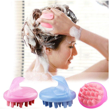 New massage brush shampoo health brain massage brush clean scalp silicone plastic balloon bath shampoo massage comb(China)