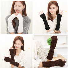 Long Ladies Wrist Cuffs Fingerless Gloves Arm Gauntlets Color To Choose Crochet Lace and Knitted Arm Cuffs Warmers  Gloves