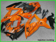 Injection molded fairing kit for Suzuki GSXR 600 2008 2009 2010 orange black motobike fairings GSXR 750 08 09 10 YZ59