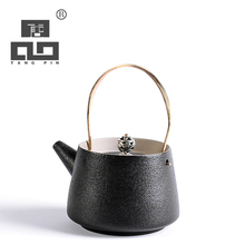 TANGPIN black crockery ceramic teapot kettles japanese tea pot coffee pot japanese tea set drinkware